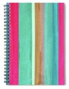 Boho Stripe- Art By Linda Woods Spiral Notebook
