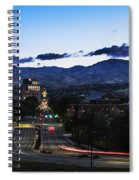 Boise Skyline In Early Morning Hours Spiral Notebook