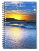 Bold And Blue Sunrise Seascape Spiral Notebook