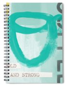 Bold And Strong In Blue- Art By Linda Woods Spiral Notebook