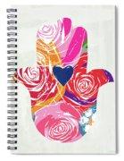 Bold Floral Hamsa- Art By Linda Woods Spiral Notebook