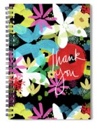 Bold Floral Thank You Card- Design By Linda Woods Spiral Notebook
