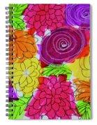 Bold Flowers Spiral Notebook