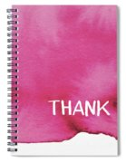 Bold Pink And White Watercolor Thank You- Art By Linda Woods Spiral Notebook
