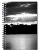 Bold Rays Monochrome Spiral Notebook