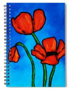 Bold Red Poppies - Colorful Flowers Art Spiral Notebook