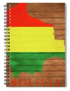 Bolivia Rustic Map On Wood Spiral Notebook