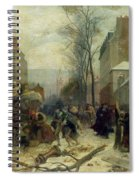 Bombardment Of Paris In 1871 Spiral Notebook