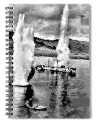 Bomber Attack Spiral Notebook