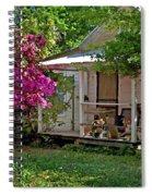 Bon Secour Pink Porch Spiral Notebook