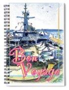 Bon Voyage Cruise Spiral Notebook