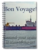 Bon Voyage Greeting Card - Enjoy Your Cruise Spiral Notebook
