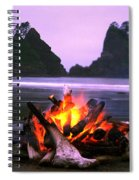 Bonfire On The Beach, Point Of The Spiral Notebook