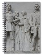Bonham And Bowie On Alamo Monument Spiral Notebook