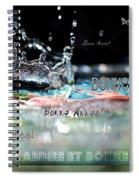Bonne Annee Card Spiral Notebook