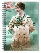Bonne Annee Vintage Woman Spiral Notebook