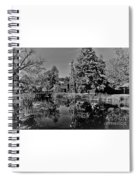 Bonneyville Grist Mill          Black And White        Autumn        Indiana Spiral Notebook