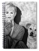Bonnie Hunt And Charlie Spiral Notebook