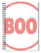 Boo Rubber Stamp Spiral Notebook