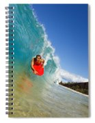Boogie Boarding At Makena Spiral Notebook