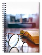 Book And Glasses Spiral Notebook