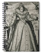 Book Frontispiece Celebrating Queen Elizabeth I's Happy And Prosperous Reign Spiral Notebook