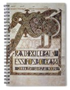 Book Of Lindisfarne Initial Spiral Notebook