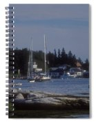 Boothbay Harbor In Maine Spiral Notebook