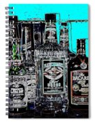 Boozy Line Up With Aqua  Spiral Notebook