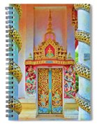 Bophut Temple In Thailand Spiral Notebook