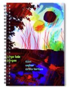 Borges Tlon Poster 2 Spiral Notebook