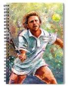 Boris Becker Spiral Notebook
