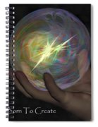 Born To Create - View With Or Without Red-cyan 3d Glasses Spiral Notebook