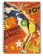 Born To Dance 1936 Retro Movie Poster Spiral Notebook