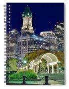 Boston Above Christopher Columbus Park Spiral Notebook