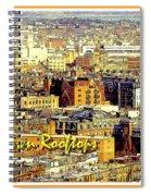 Boston Beantown Rooftops Digital Art Spiral Notebook