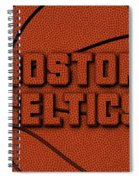 Boston Celtics Leather Art Spiral Notebook