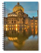 Boston Christian Science Building Reflecting Pool Spiral Notebook