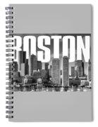 Boston Cityscape Spiral Notebook