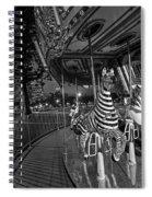 Boston Common Carousel Boston Ma Black And White Spiral Notebook