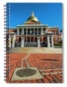 Boston Freedom Trail To State House Boston Ma Spiral Notebook
