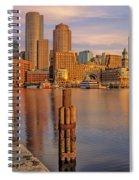 Boston Habor Sunrise Spiral Notebook