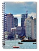 Boston Harbor Pano Spiral Notebook