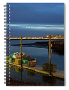 Boston Ma Belle Isle Boat Pier And Skyline Logan Airport Spiral Notebook