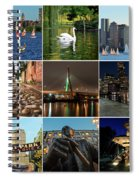 Boston Ma Nine Image Collage 1 Spiral Notebook