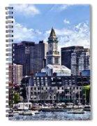 Boston Ma - Skyline With Custom House Tower Spiral Notebook