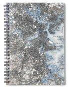 Boston Map, 1903 Spiral Notebook