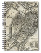 Boston Map Of 1842 Spiral Notebook