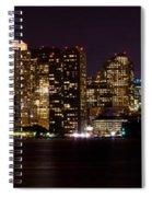 Boston Massachusetts - Panoramic Spiral Notebook