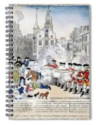 Boston Massacre, 1770 Spiral Notebook